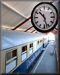 Schlafen in der Eisenbahn