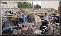 Zeltplatz Berlin auf dem Hostelboot
