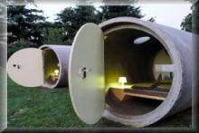 schlafen in einer betonröhre