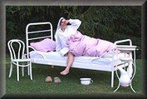 Hotel-Bett im Freien
